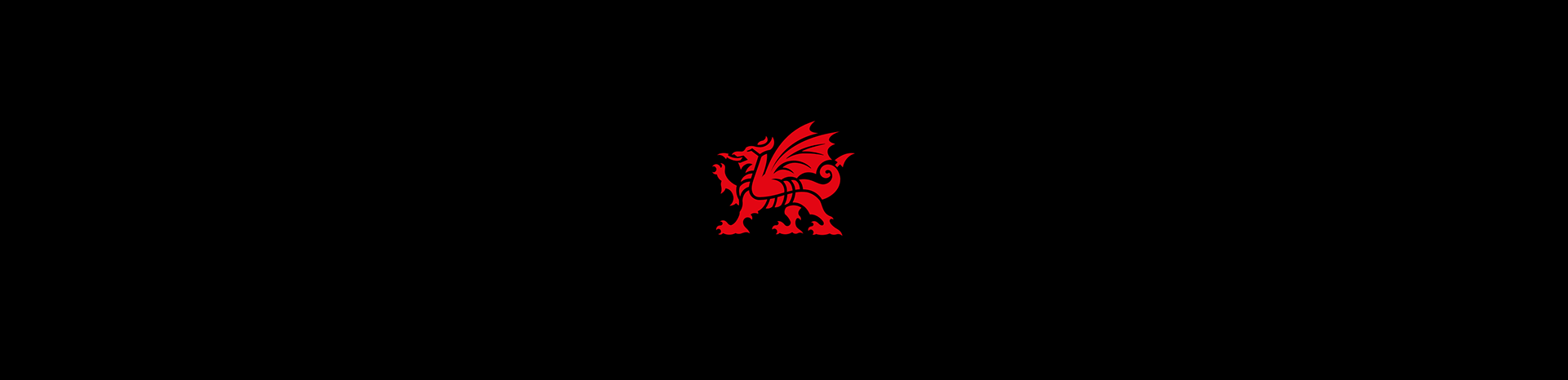 A red dragon. The logotype of the Welsh Government.